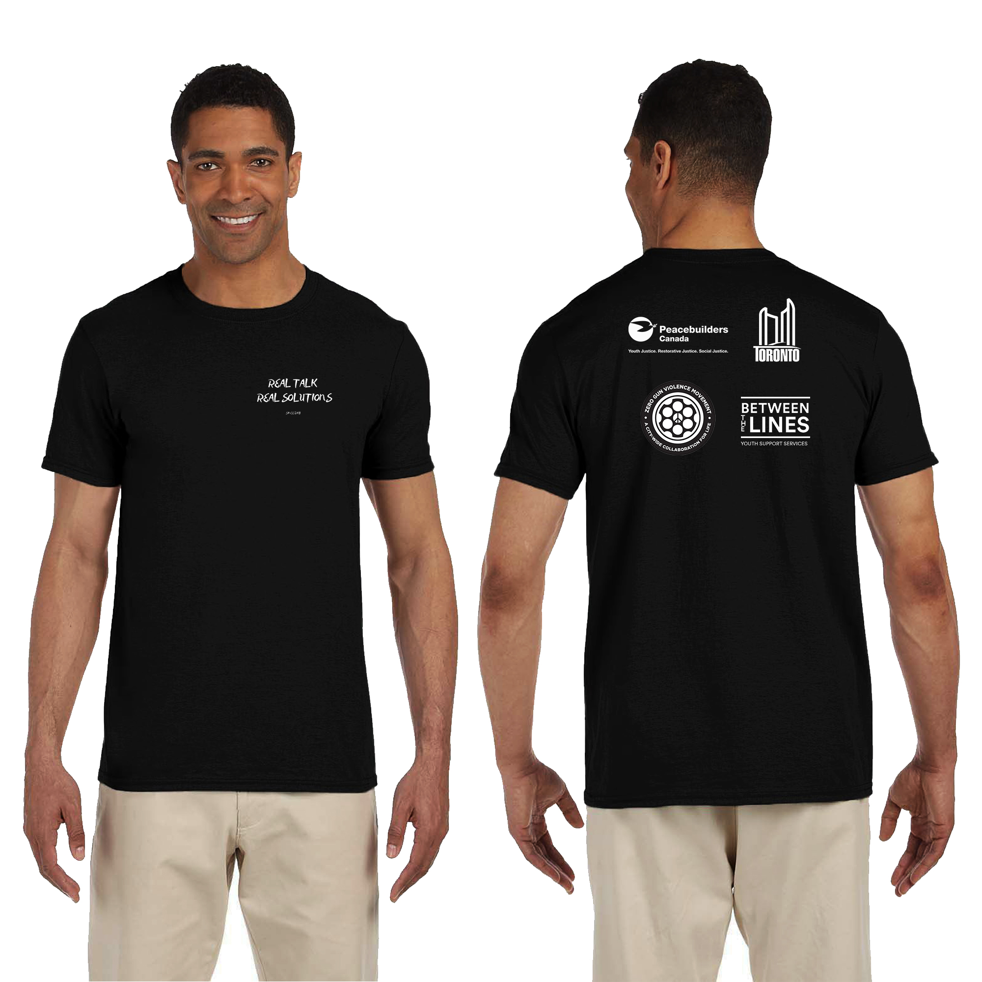 Peacebuilders Adult T-Shirt Mockup & Template