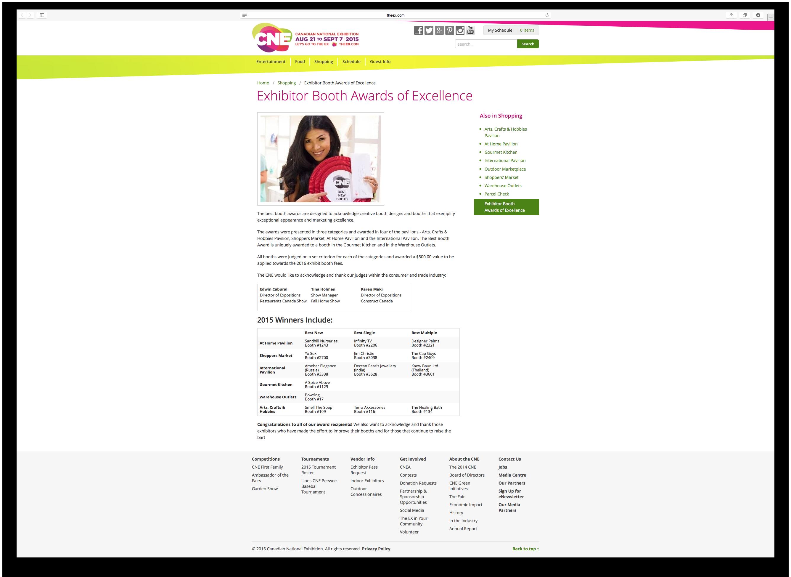 CNE Website Screenshot