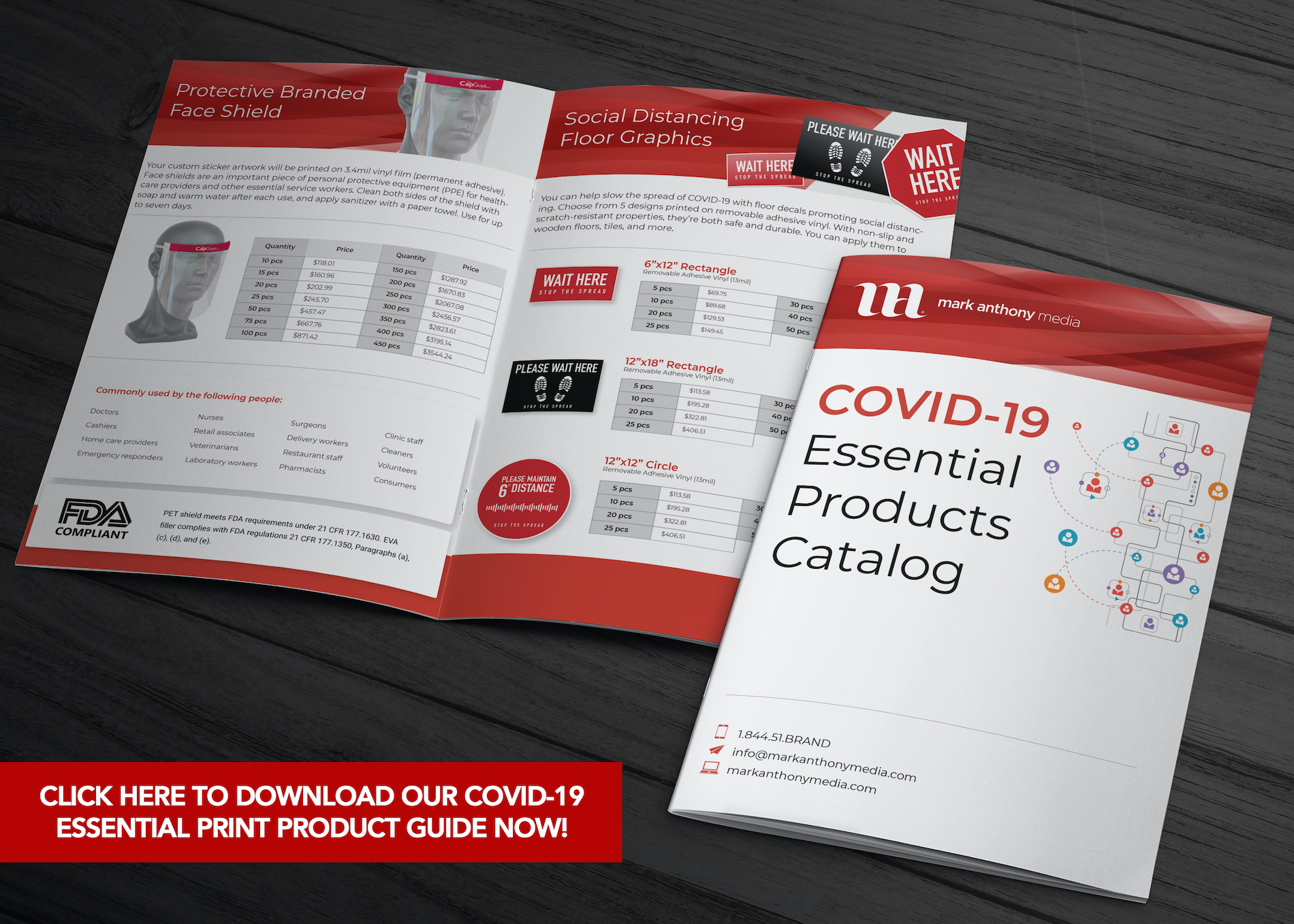 COVID-19 Essential Print Products Mock Up
