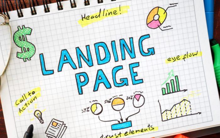 Landing Page Mockup Sketch Doodle Structure