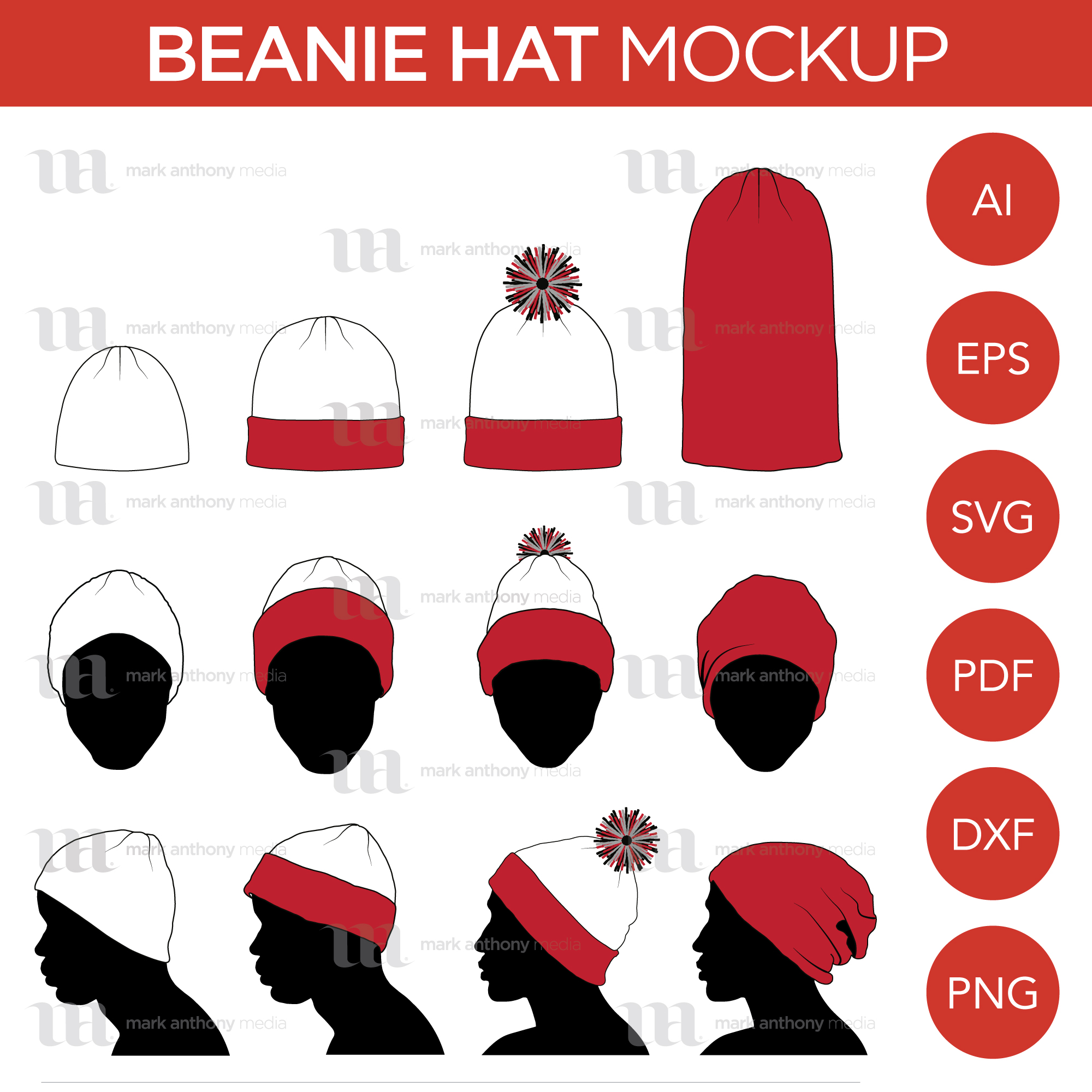 Beanie Toque Hat Template Sample Mock Up Main Image