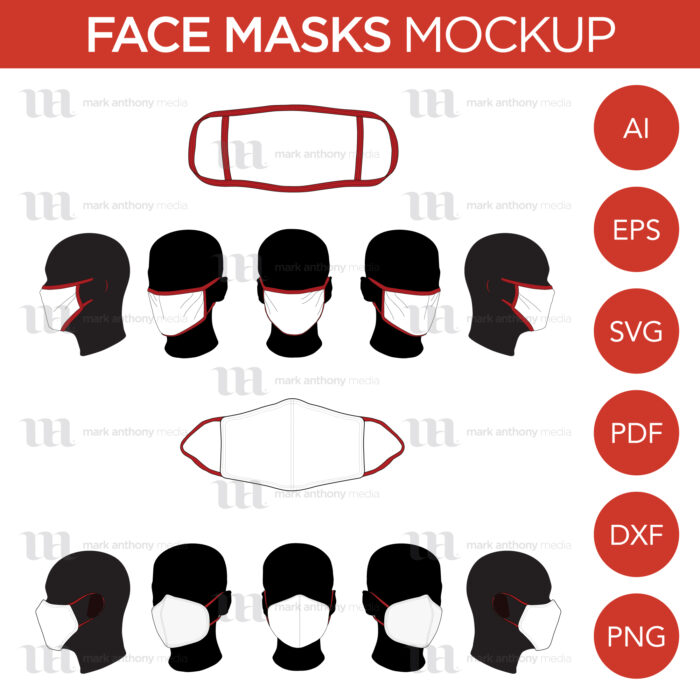 Face Masks Template Sample Mock Up Main Image
