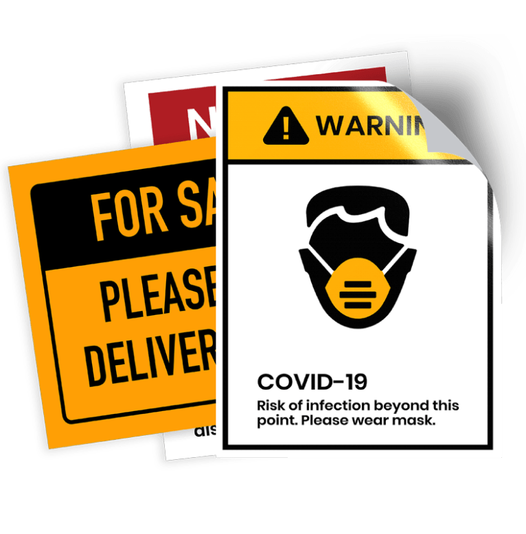 COVID-19 Social Distancing Decals/Stickers