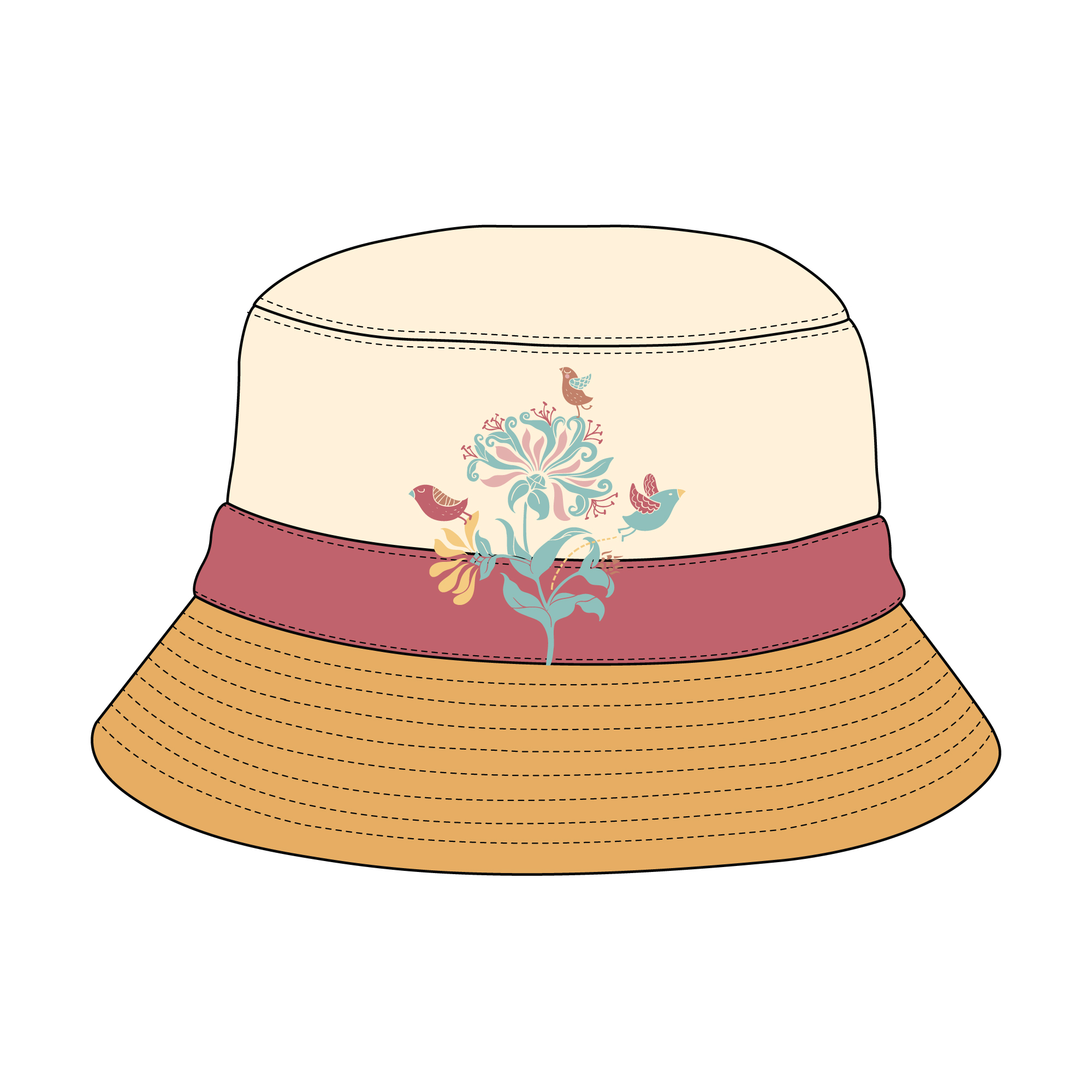 Bucket Hat Template Sample Mock Up