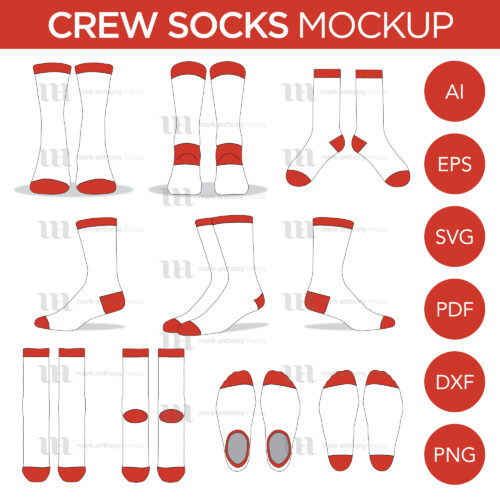 Crew Socks Mockup Template Sample Mock Up Main Image