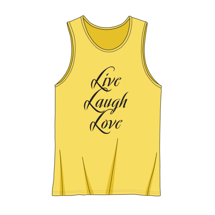 Tank Top and Muscle Shirt Top Template Mock Up Sample