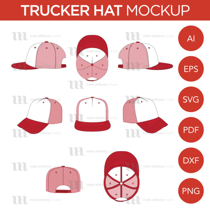 Trucker Hat Template Sample Mock Up Main Image
