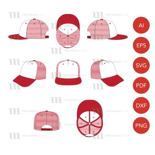 Trucker Hat Template Sample Mock Up