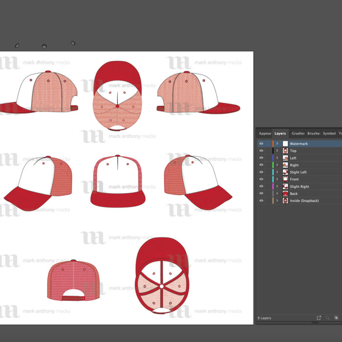 Trucker Hat Template Sample Mock Up Layers