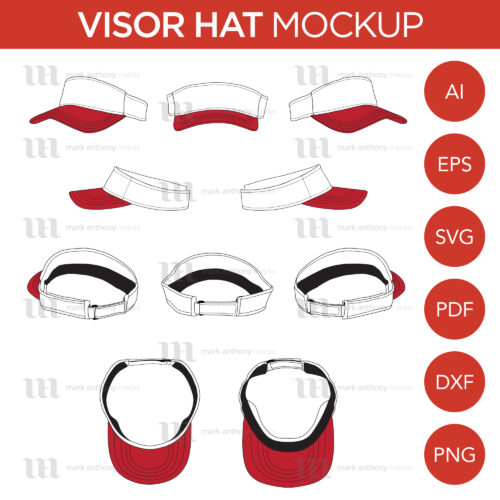 Visor Hat Template Sample Mock Up Main Image