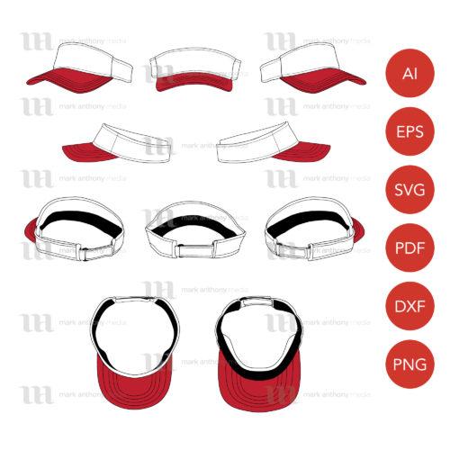 Visor Hat Template Sample Mock Up Main Image