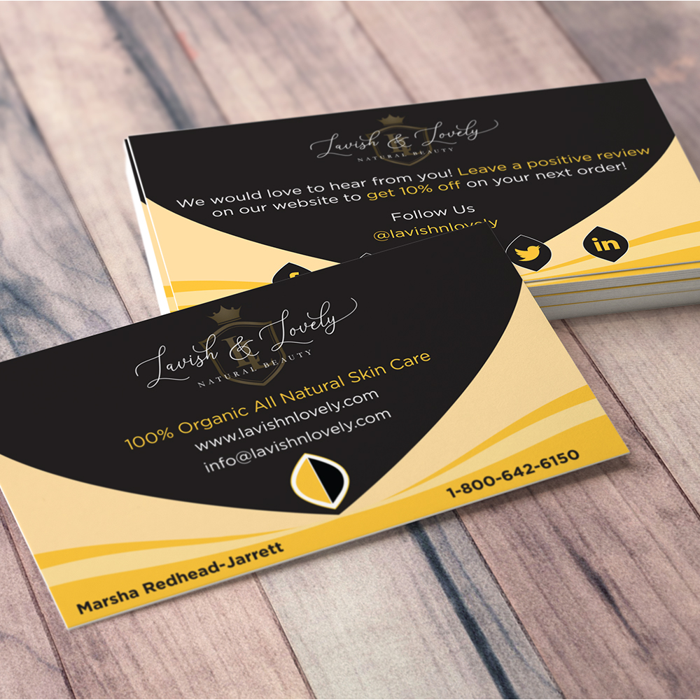 Lavish & Lovely - Business Cards - Mockup