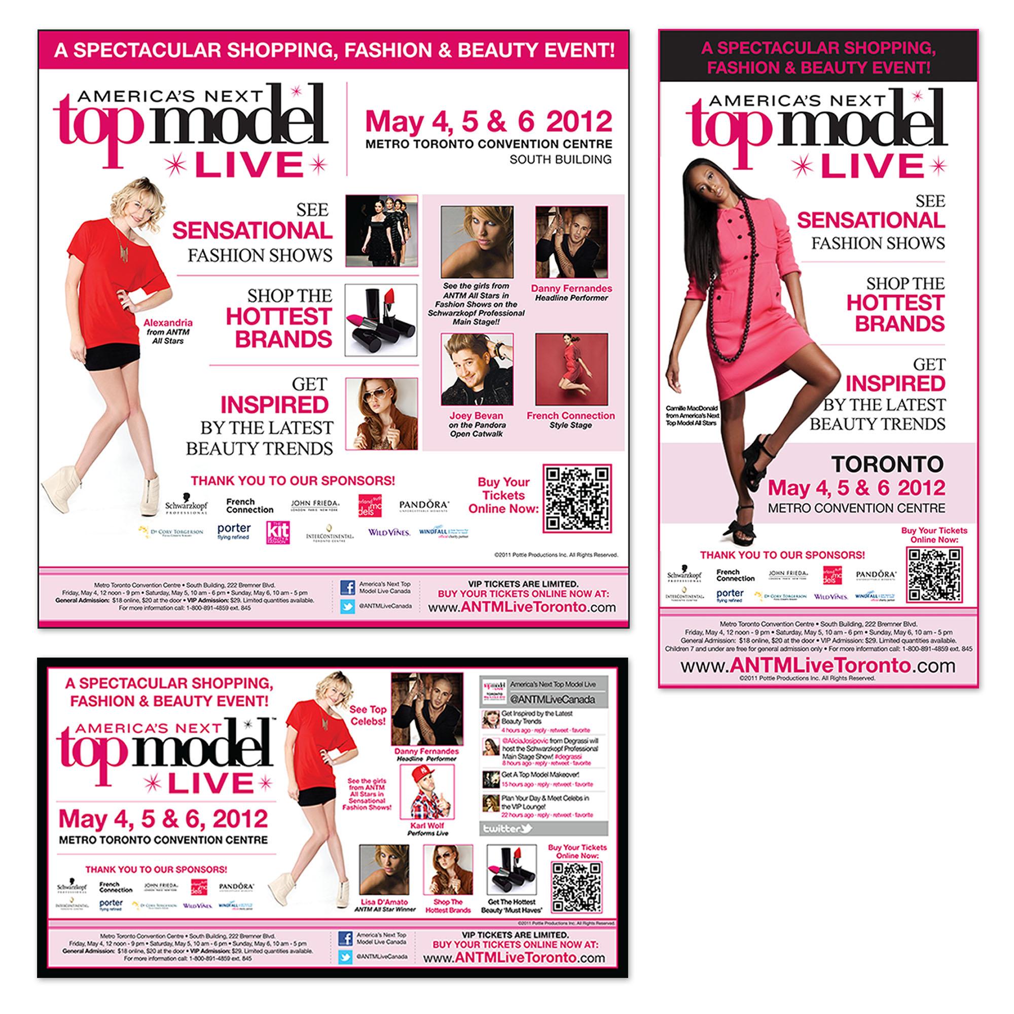 America's Next Top Model Show - Print Ads