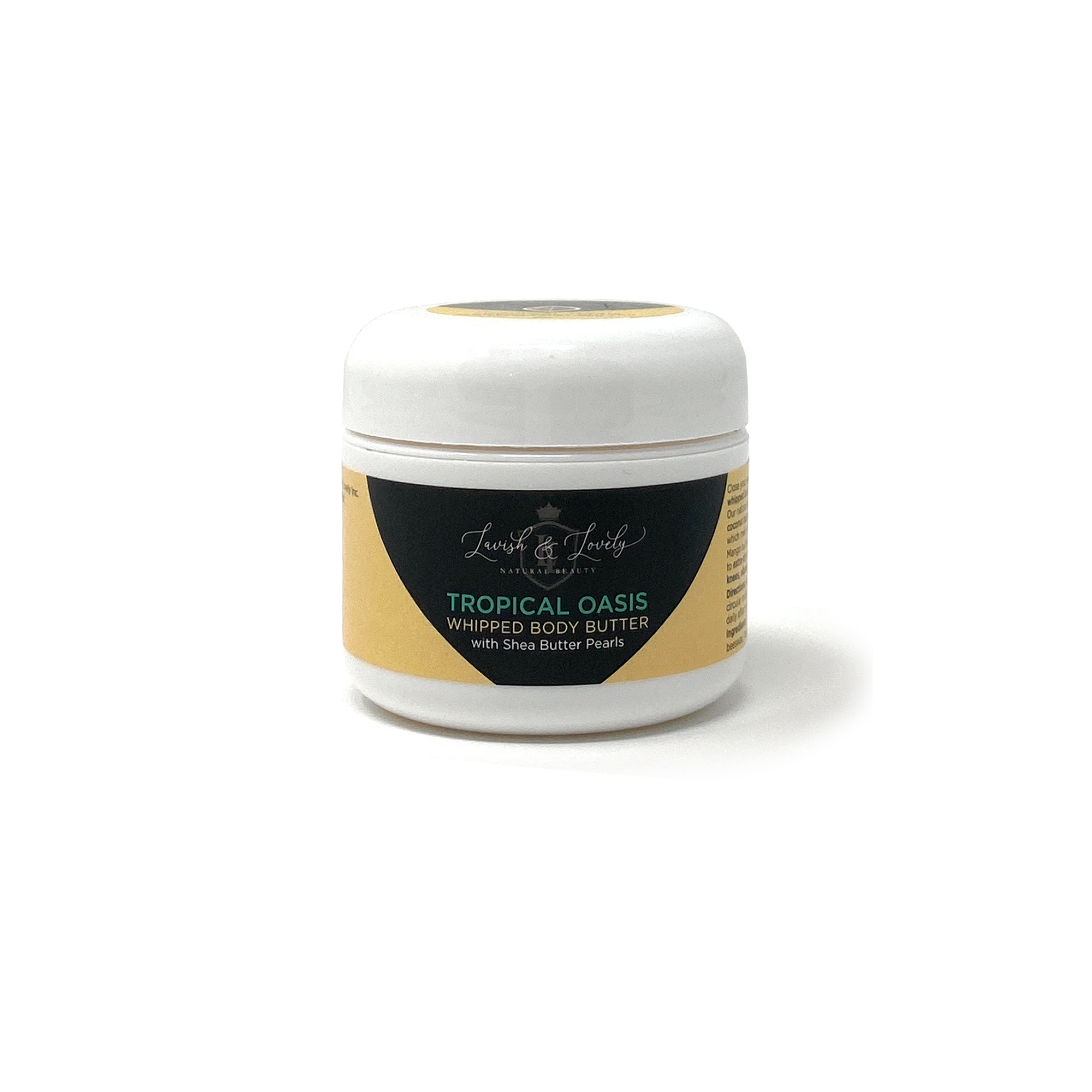 Lavish & Lovely - Tropical Oasis Scented Whipped Body Butter with Shea Pearls (2oz)