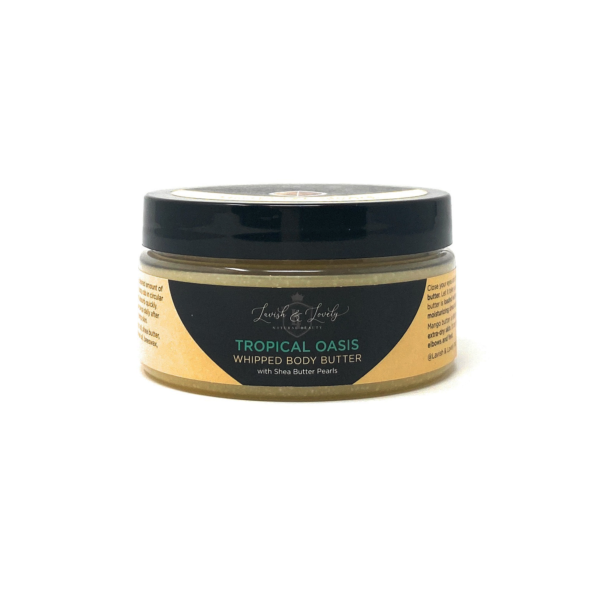 Lavish & Lovely - Tropical Oasis Scented Whipped Body Butter with Shea Pearls (8oz)