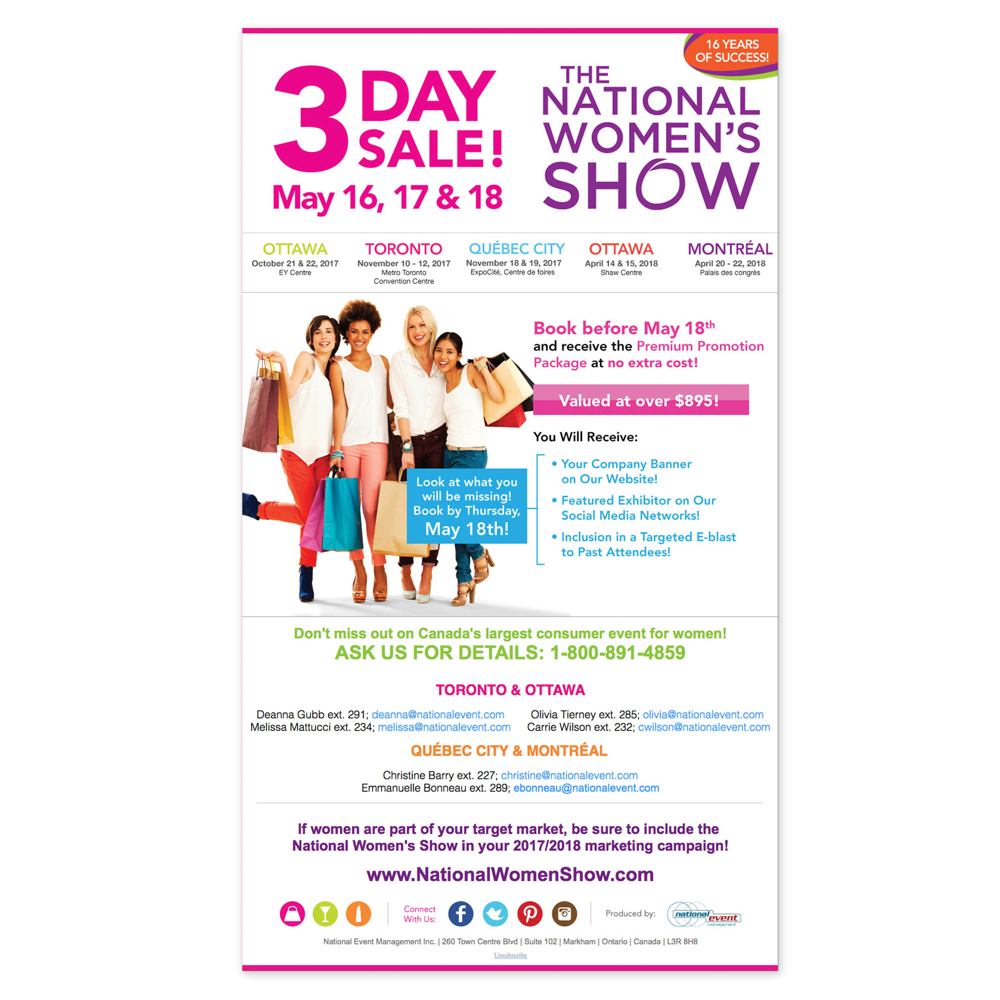 National Women's Show - E-mail Marketing
