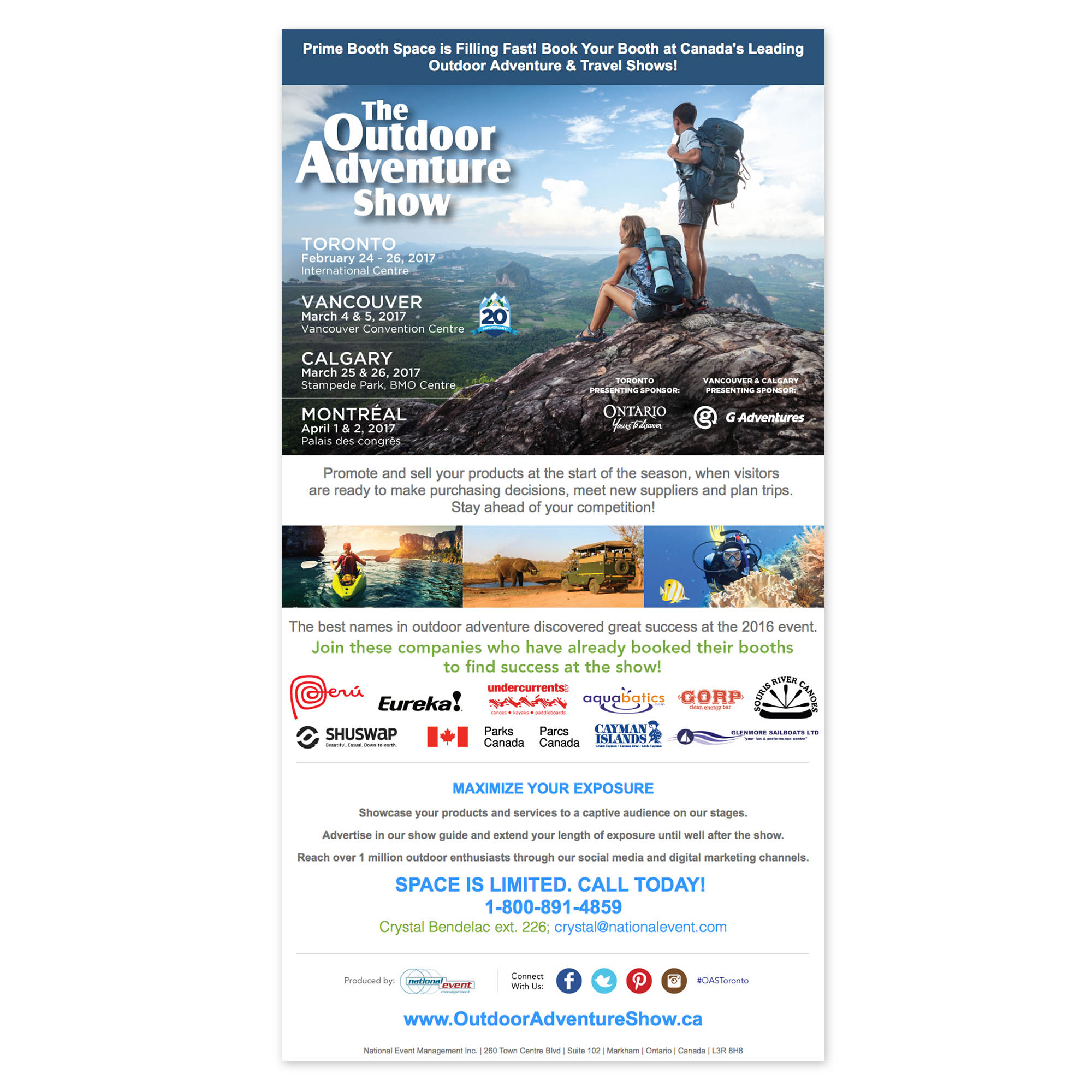 Outdoor Adventure Show - E-mail Marketing