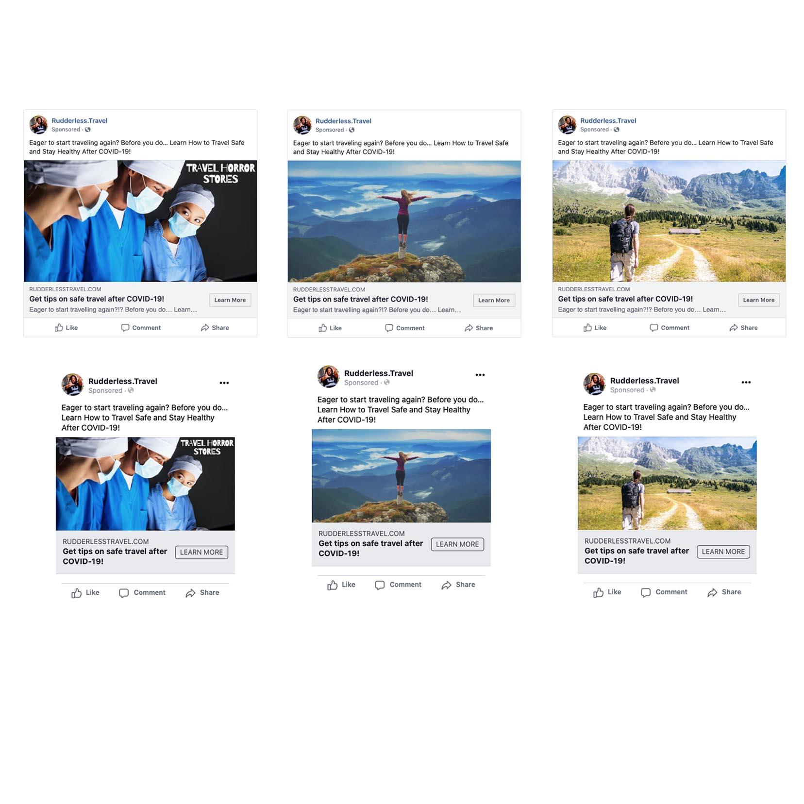 Rudderless Travel - Digital Ads