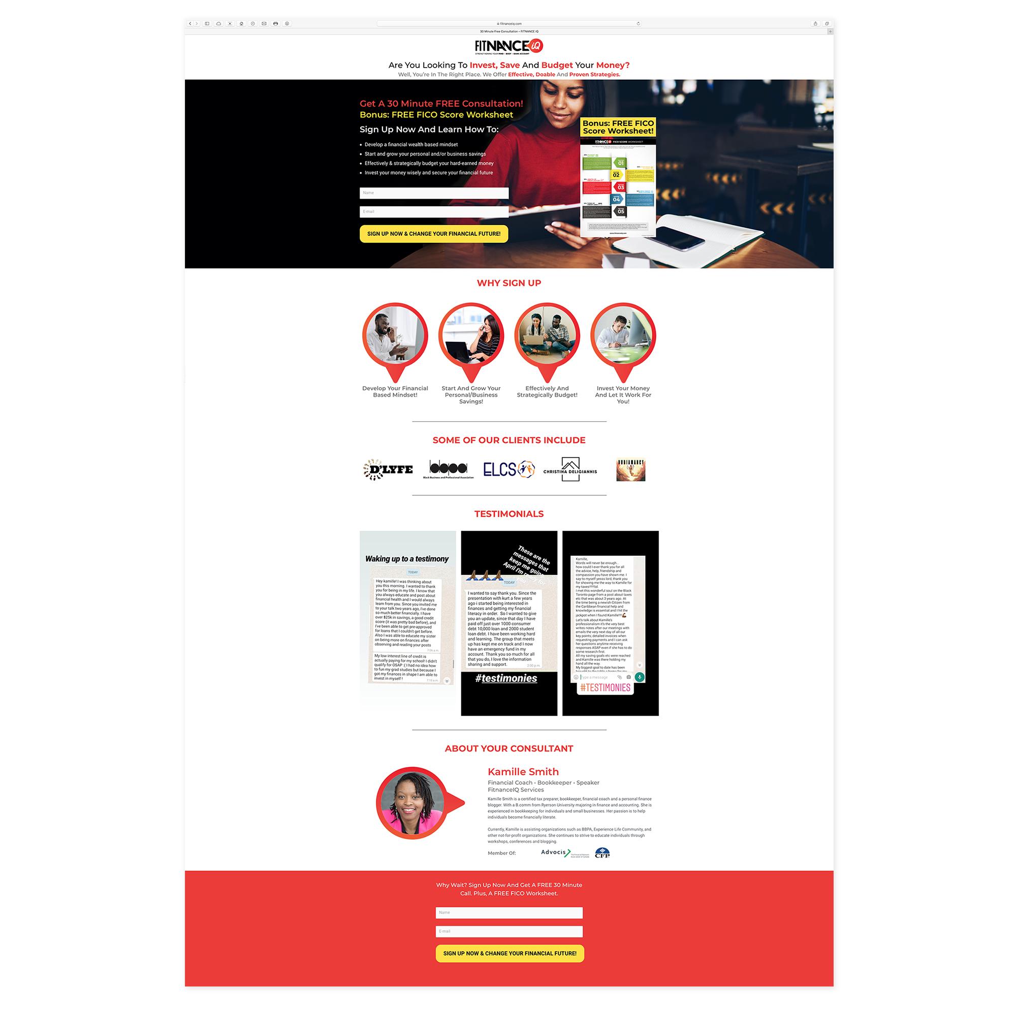 FitnanceIQ - Landing Pages