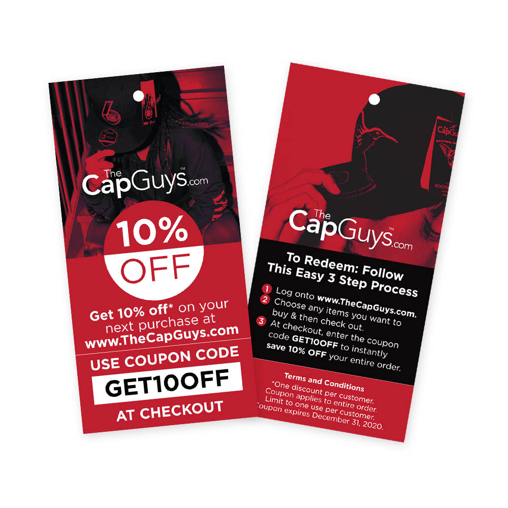 The Cap Guys - Coupon Code - Hang Tags