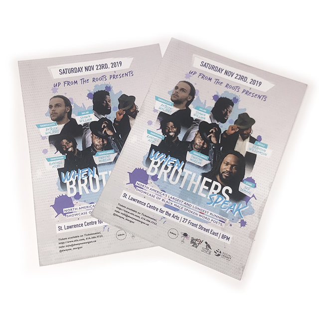 When Brothers Speak - Flyers - Printing