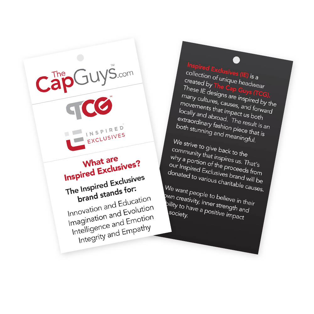 The Cap Guys - Inspired Exclusives - Hang Tags