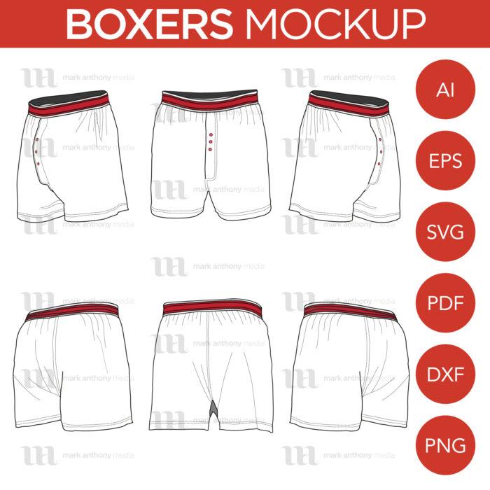 Boxers Mockup Template Sample Mock Up Main Image