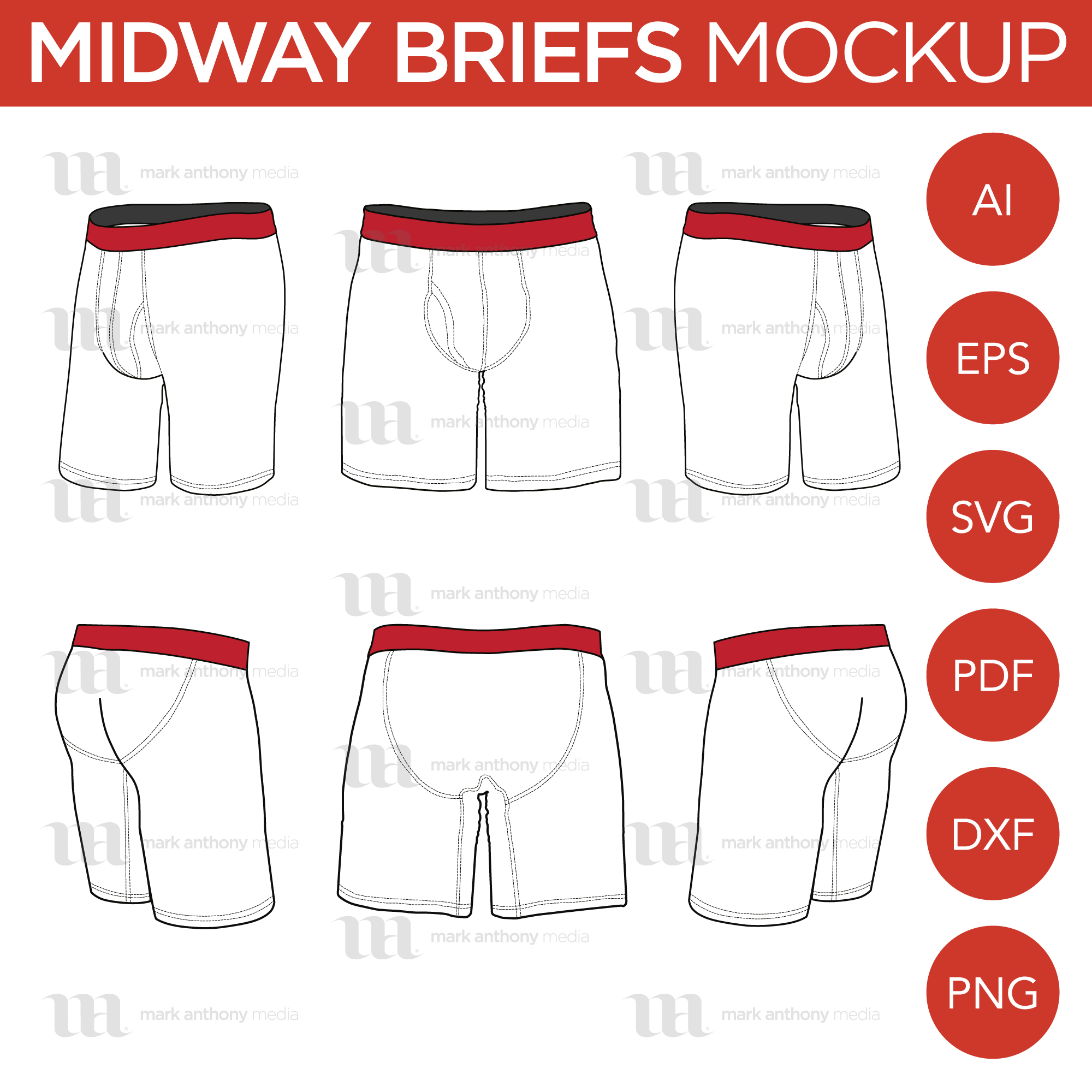 Midway Boxer Briefs Mockup Template Sample Mock Up Main Image