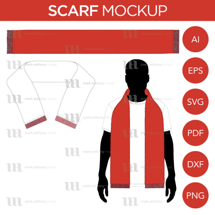 Scarf Scarves Mockup Template Sample Mock Up Main Image