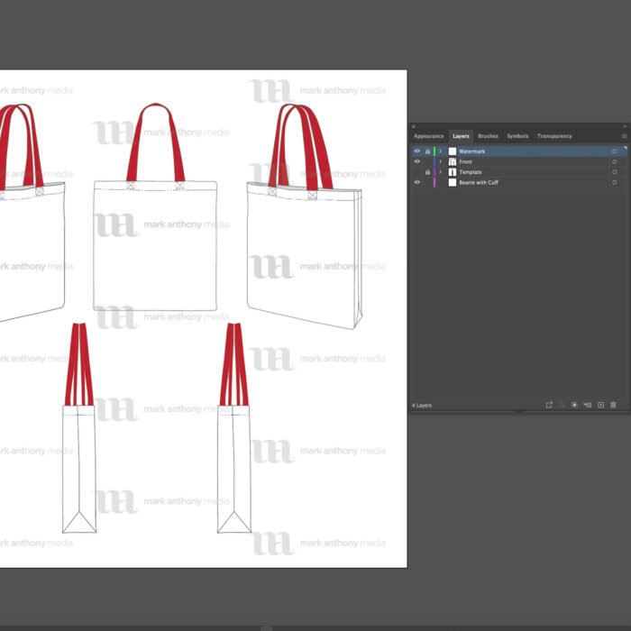 Tote Bag Template Sample Mock Up