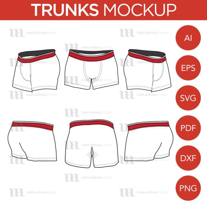 Trunks Mockup Template Sample Mock Up Main Image