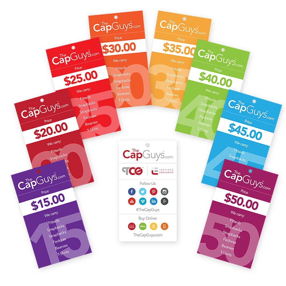 The Cap Guys - Retail Price - Hang Tags
