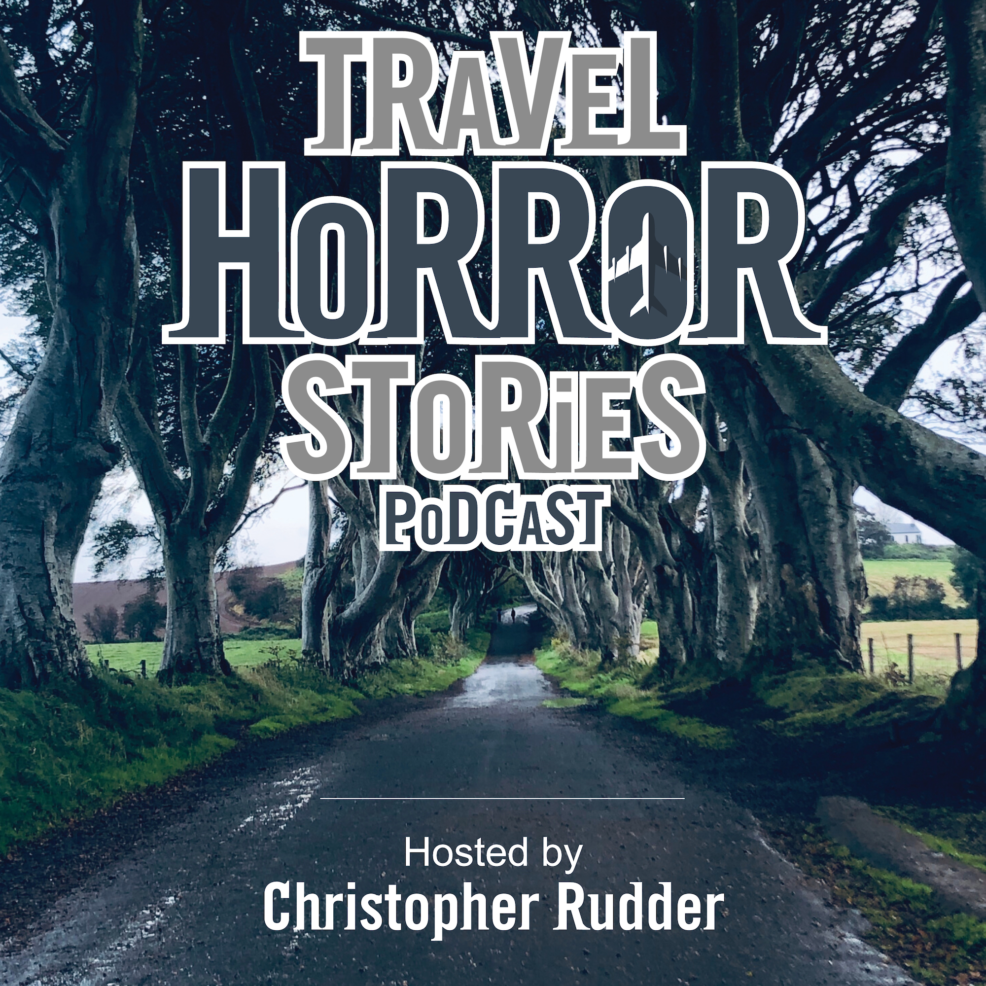 Travel Horror Stories Podcast - Podcast Cover Art - Social Media Marketing