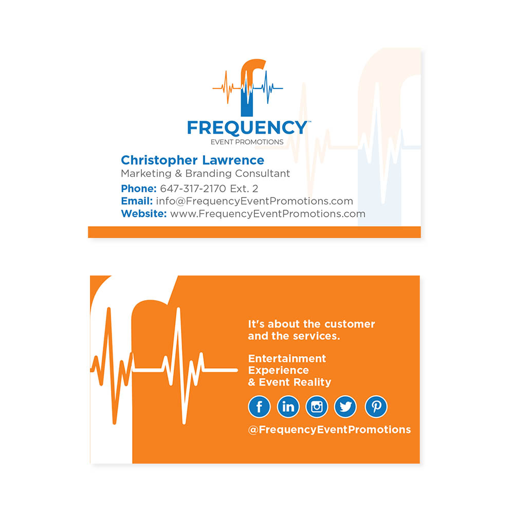 Frequency Event Promotions - Business Cards