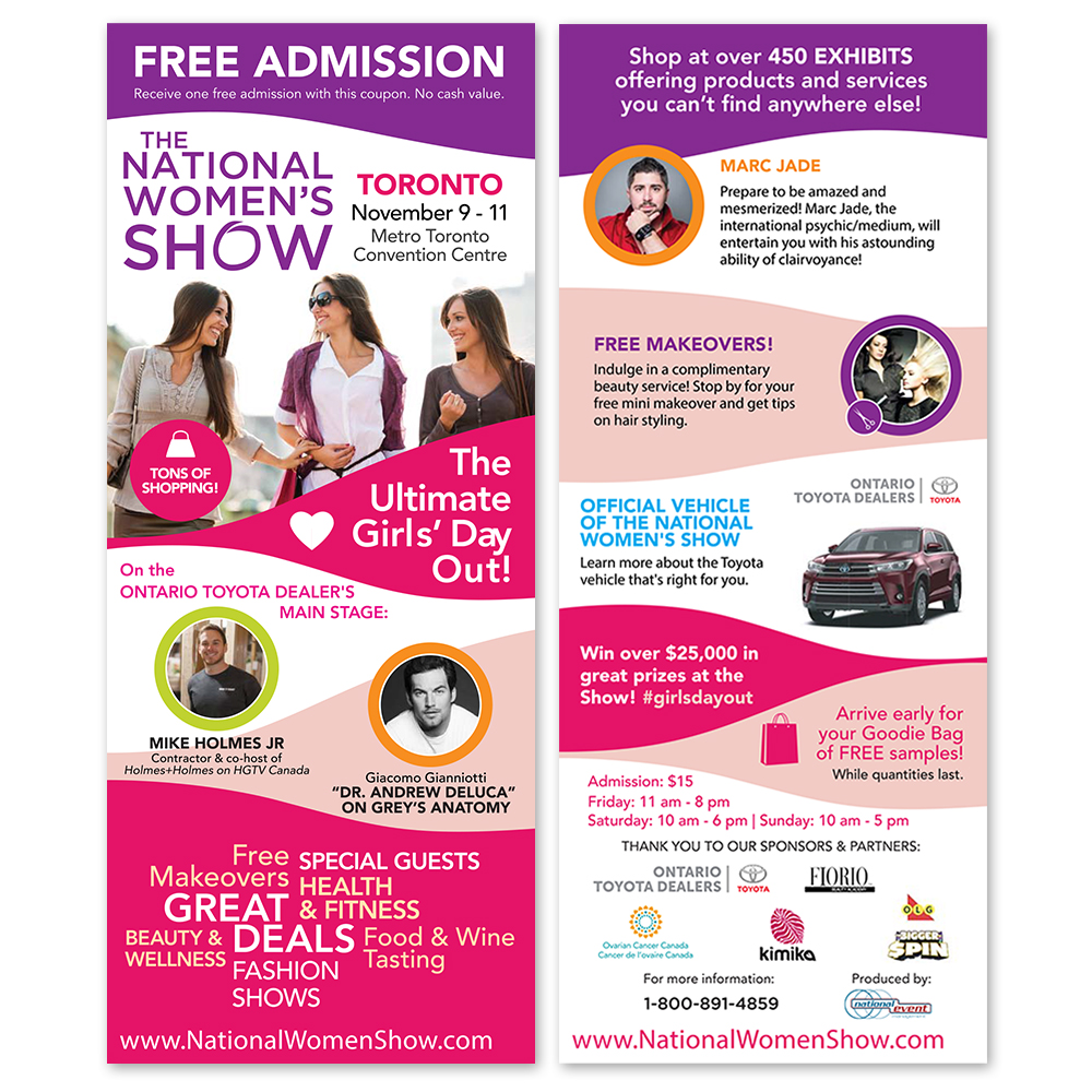 The National Women's Show - Flyers