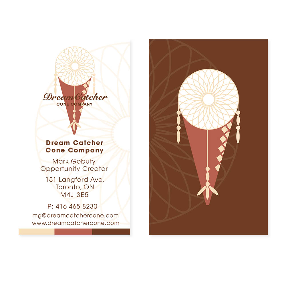Dream Catcher Cone - Business Cards