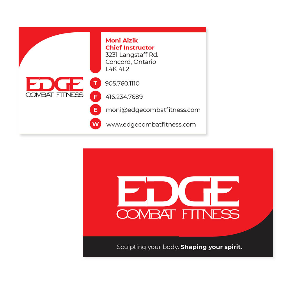 Edge Combat Fitness - Business Cards
