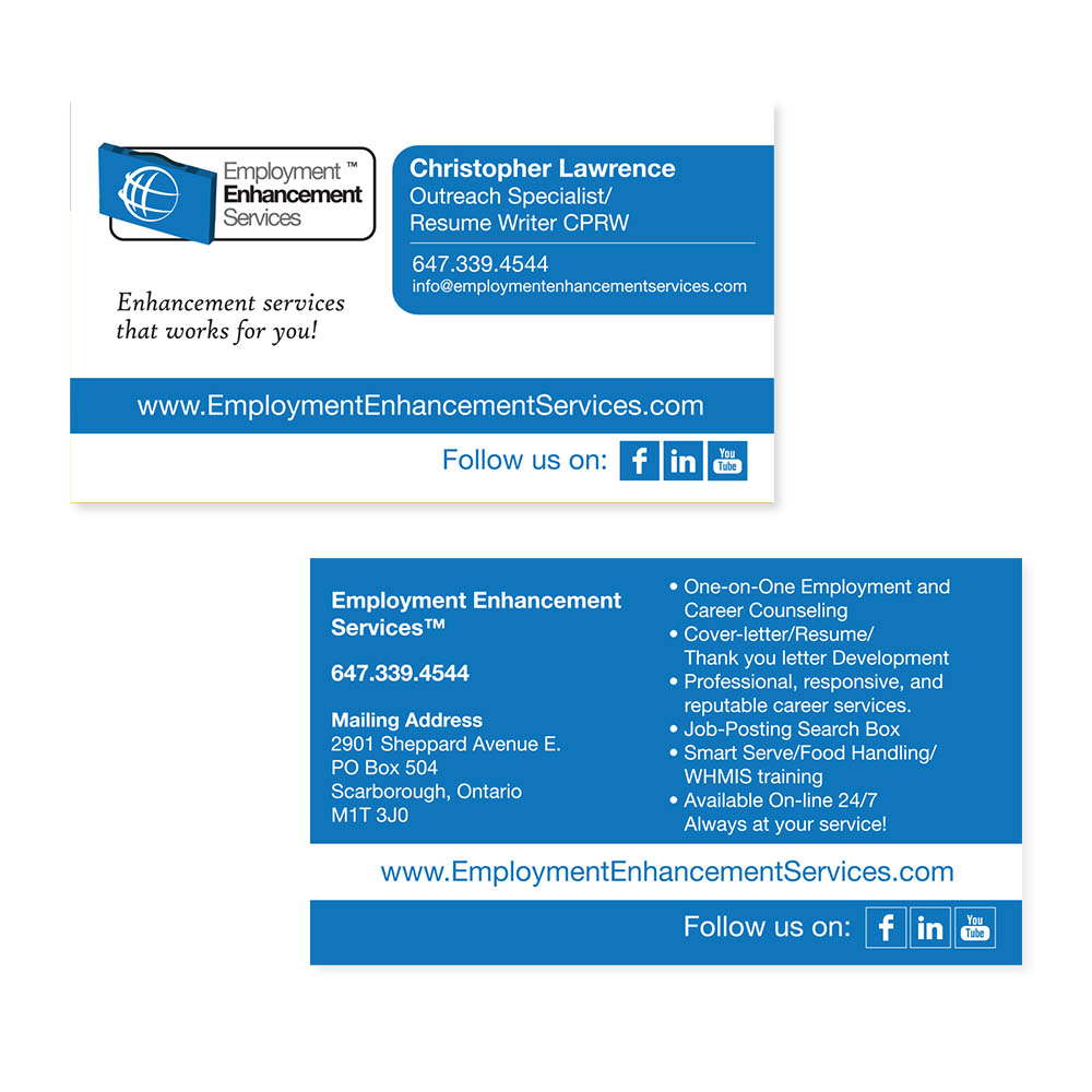 Employment Enhancement Services - Business Cards