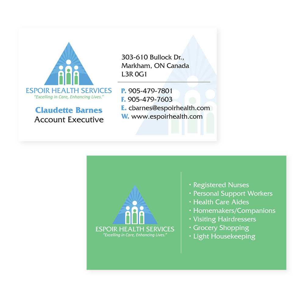 Espoir Health Services - Business Cards
