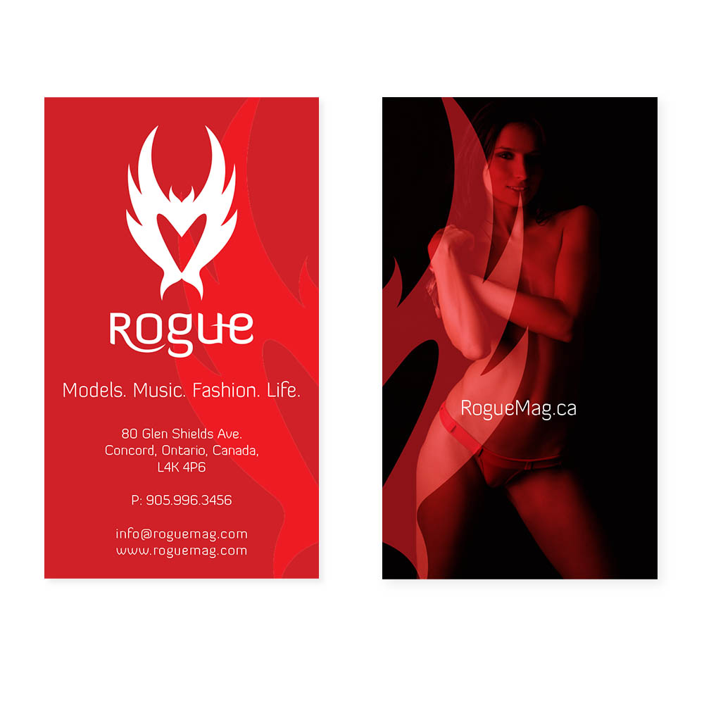 Rogue Mag - Business Cards