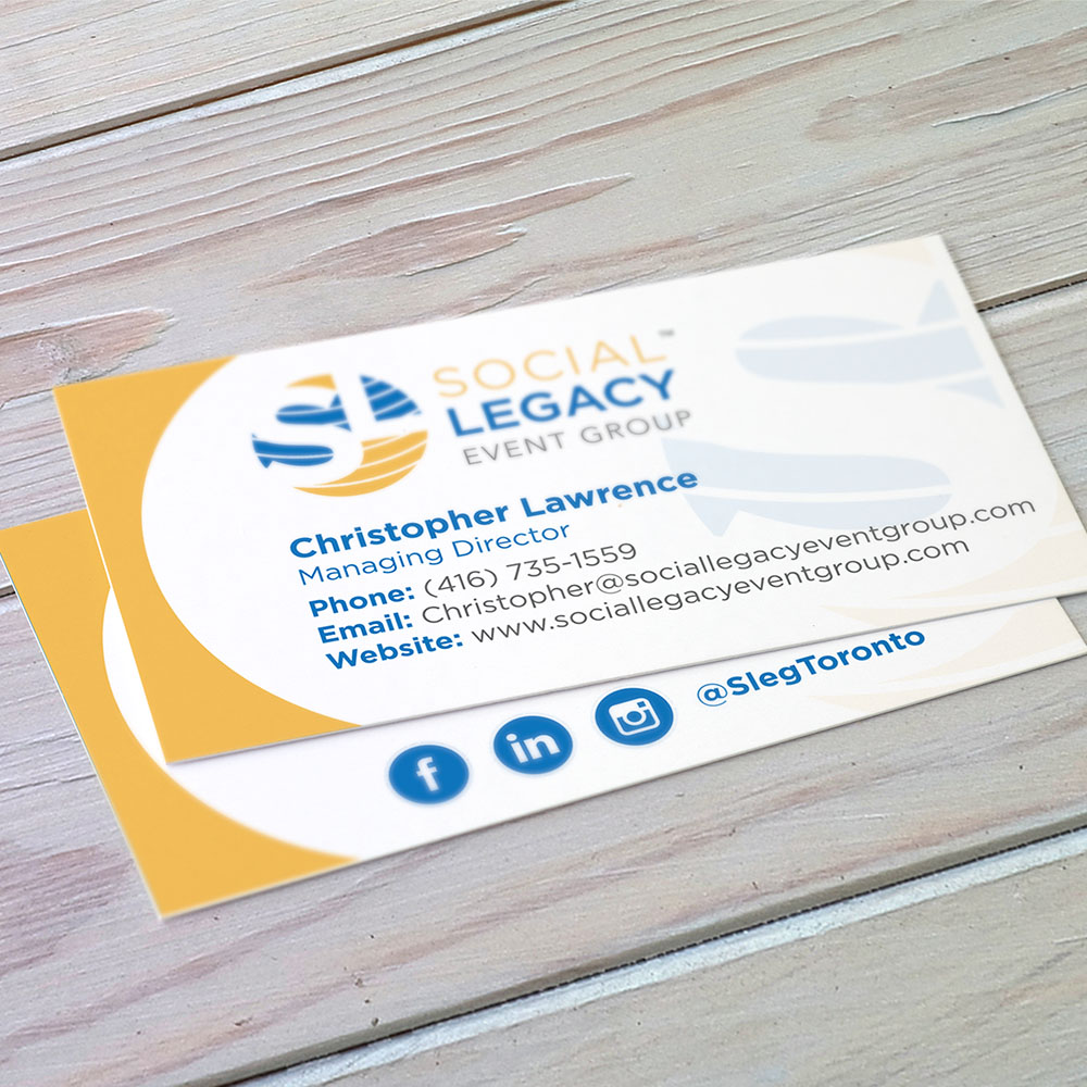 Social Legacy Event Group - Business Cards