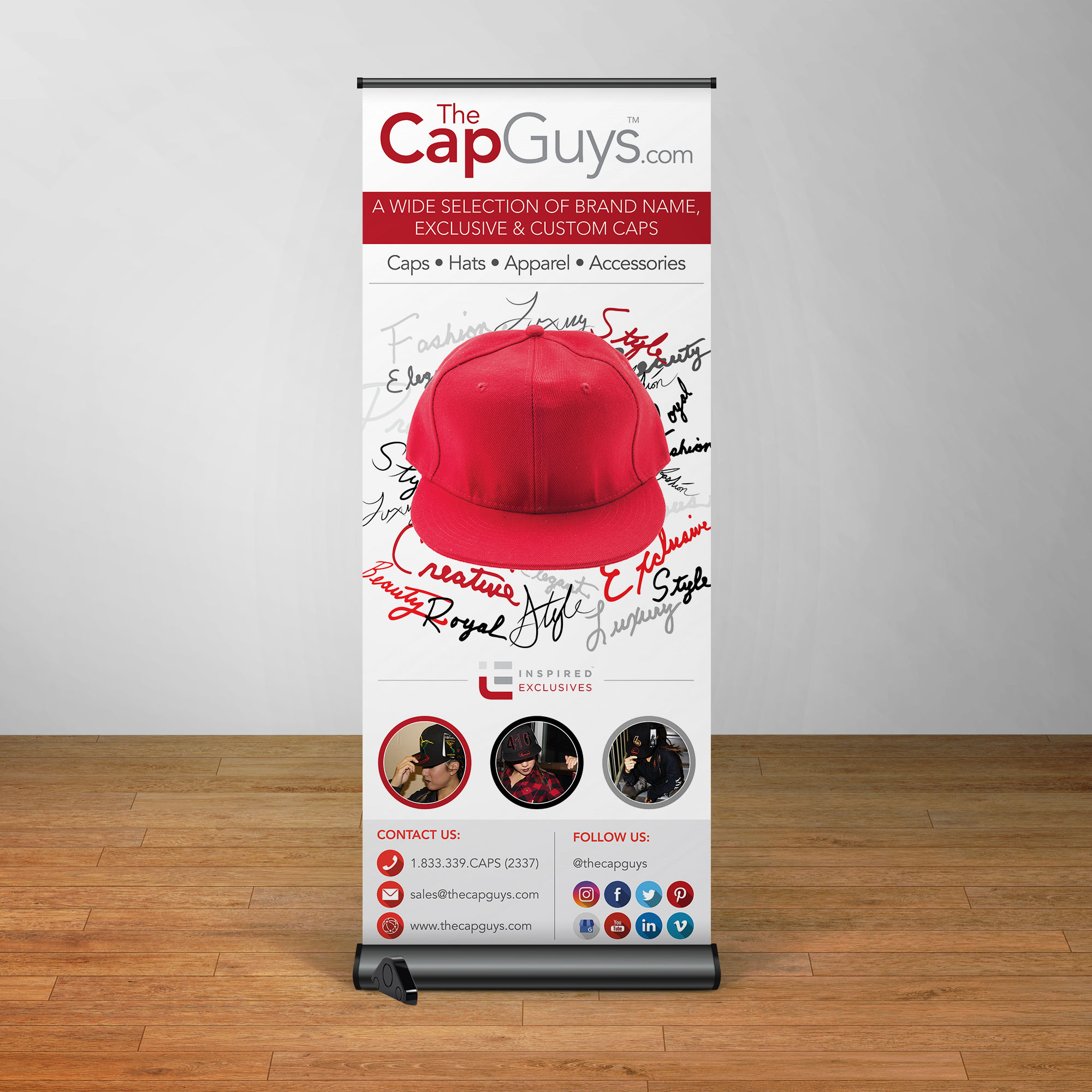 The Cap Guys - Pull-Up Banner - Signs