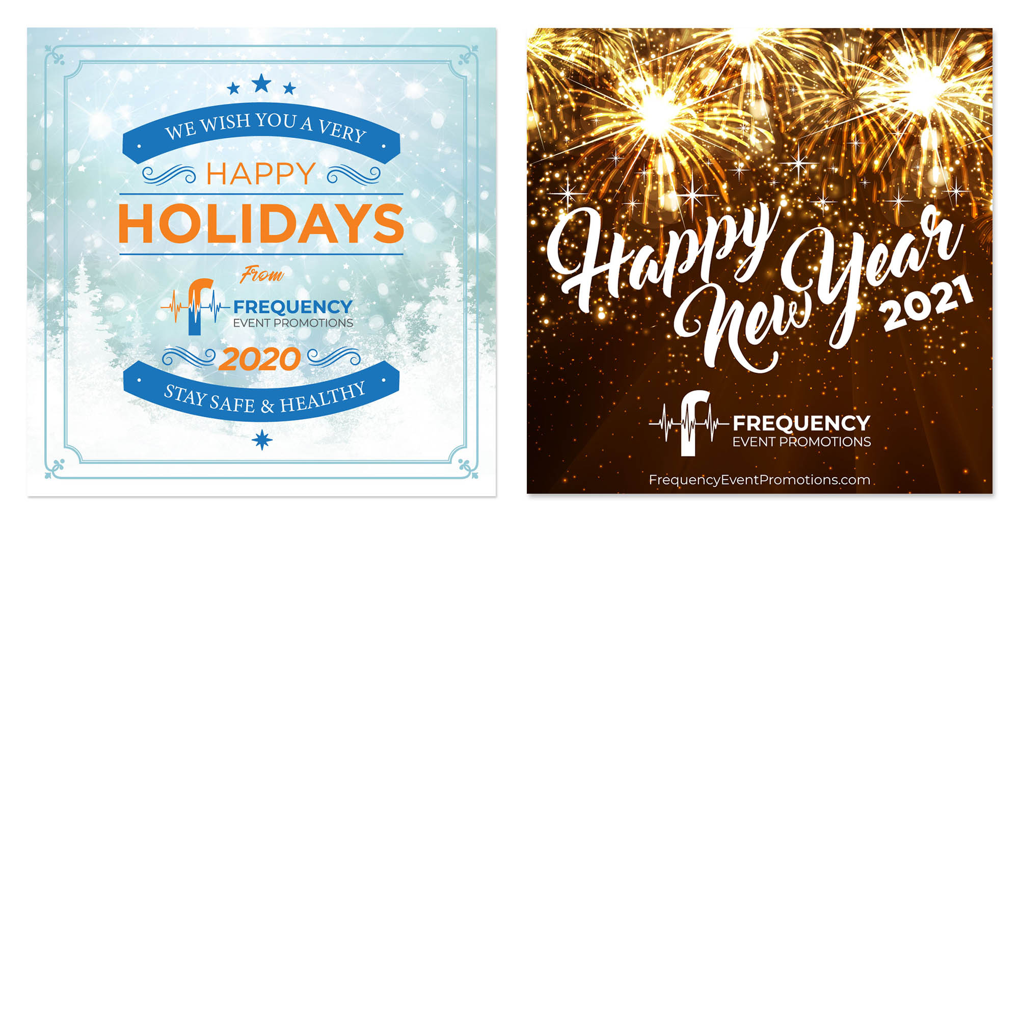 Frequency Event Promotions - Happy Holidays - Social Media Marketing