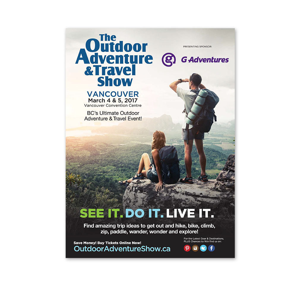 Outdoor Adventure Show - Print Ads
