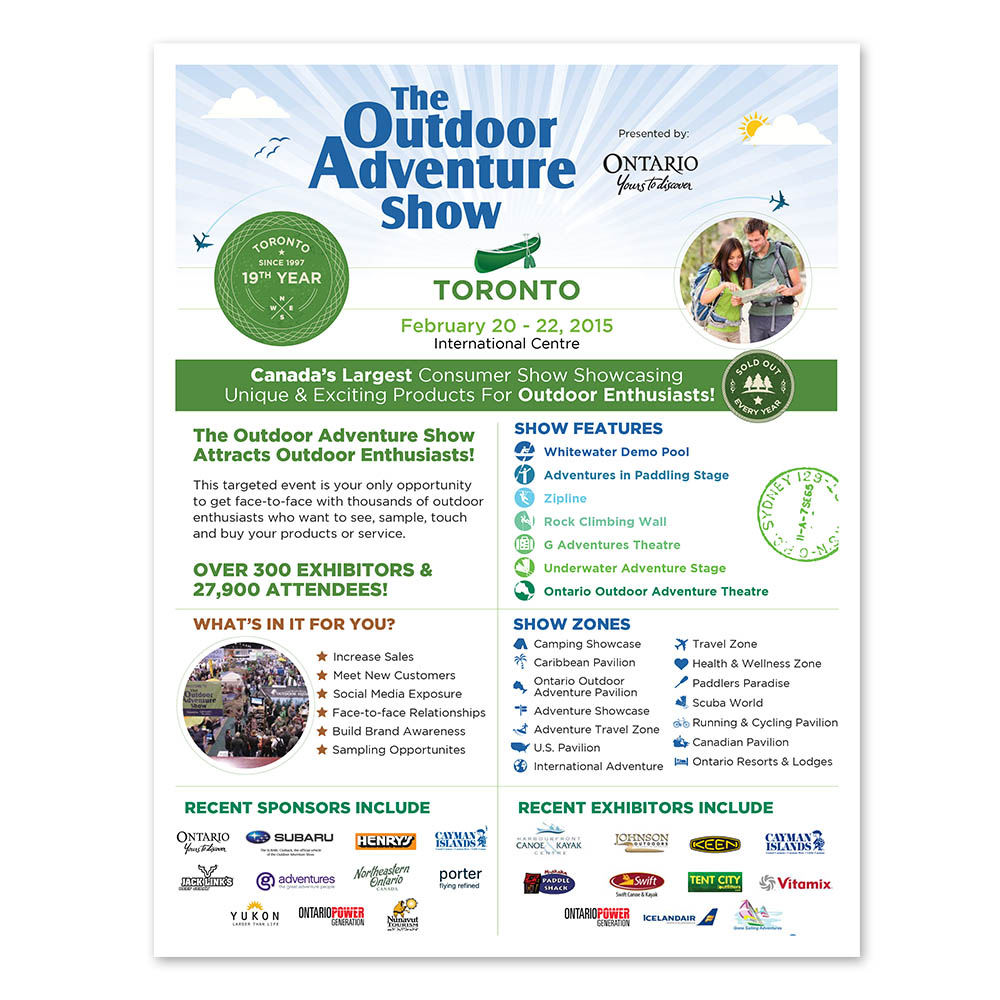 Outdoor Adventure Show - Sales Sheets - Sales Kit