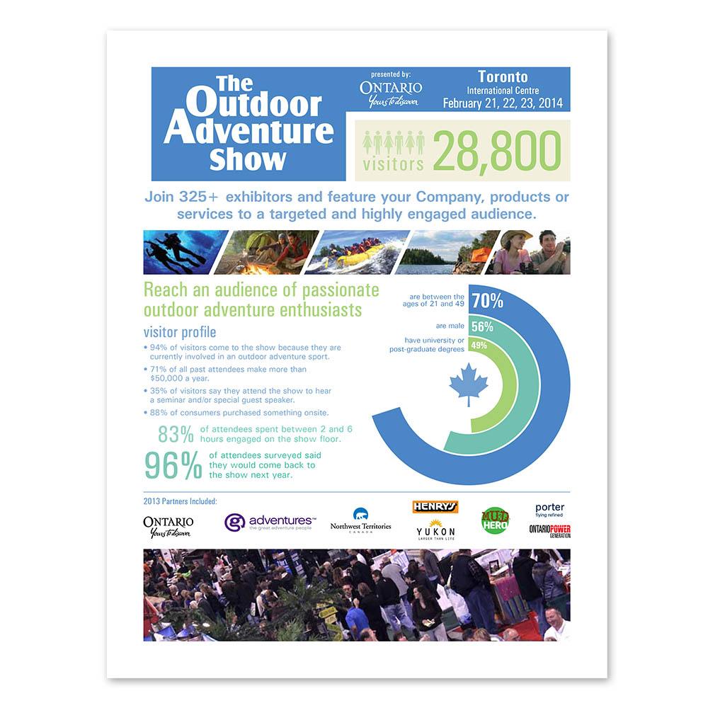 Outdoor Adventure Show - Sales Sheets - Sales Kit
