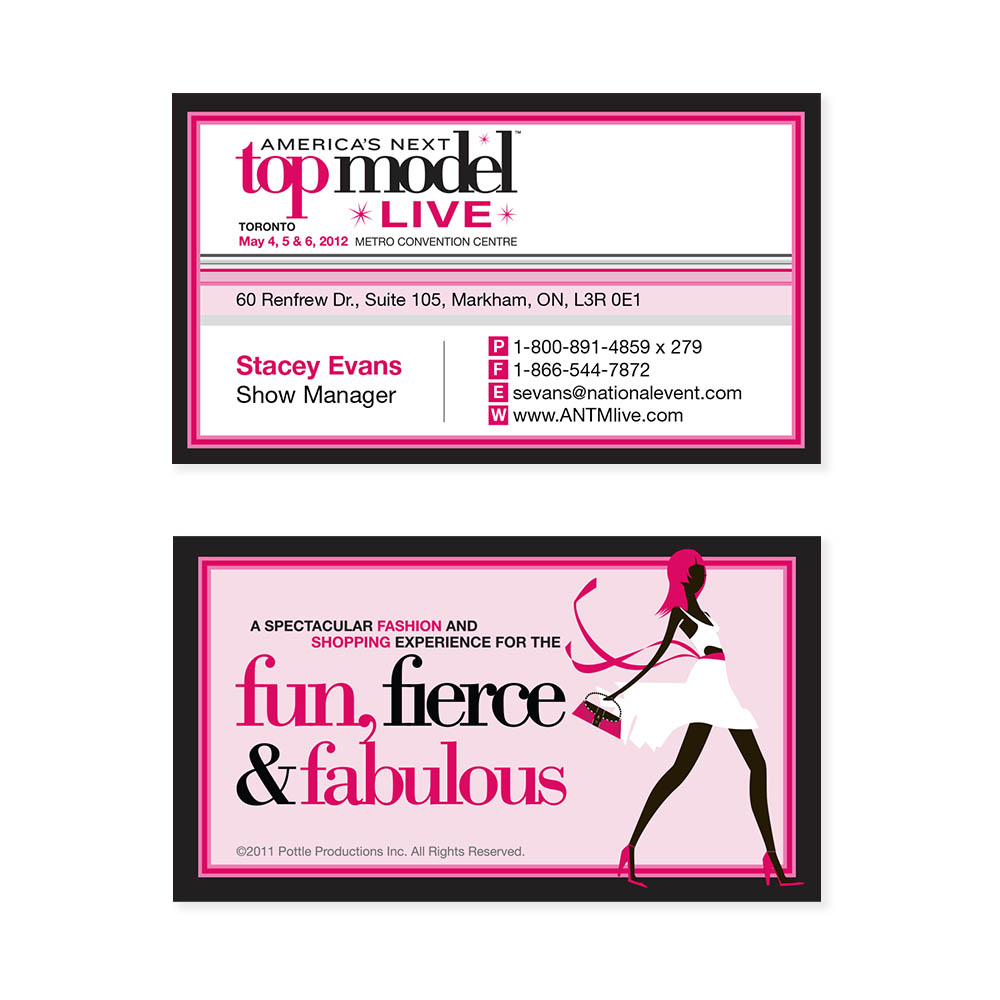 America's Next Top Model Live - Business Cards
