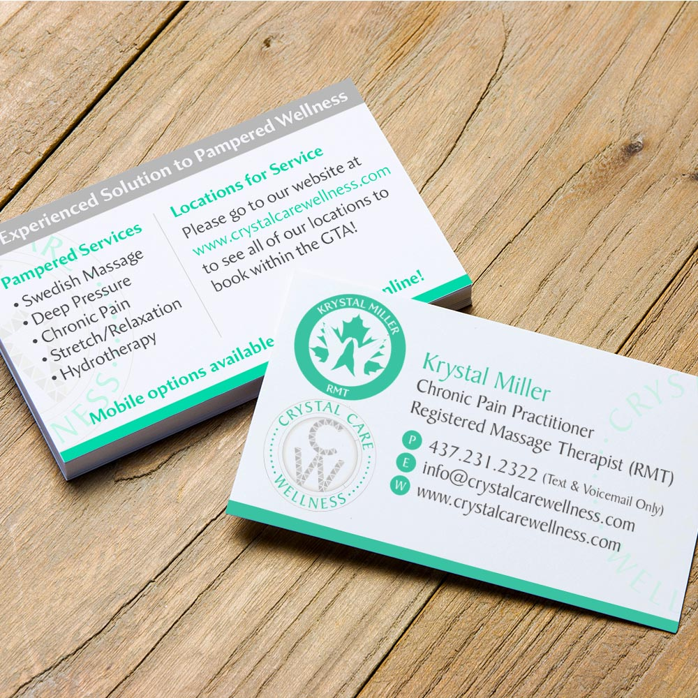Crystal Care Wellness - Business Cards