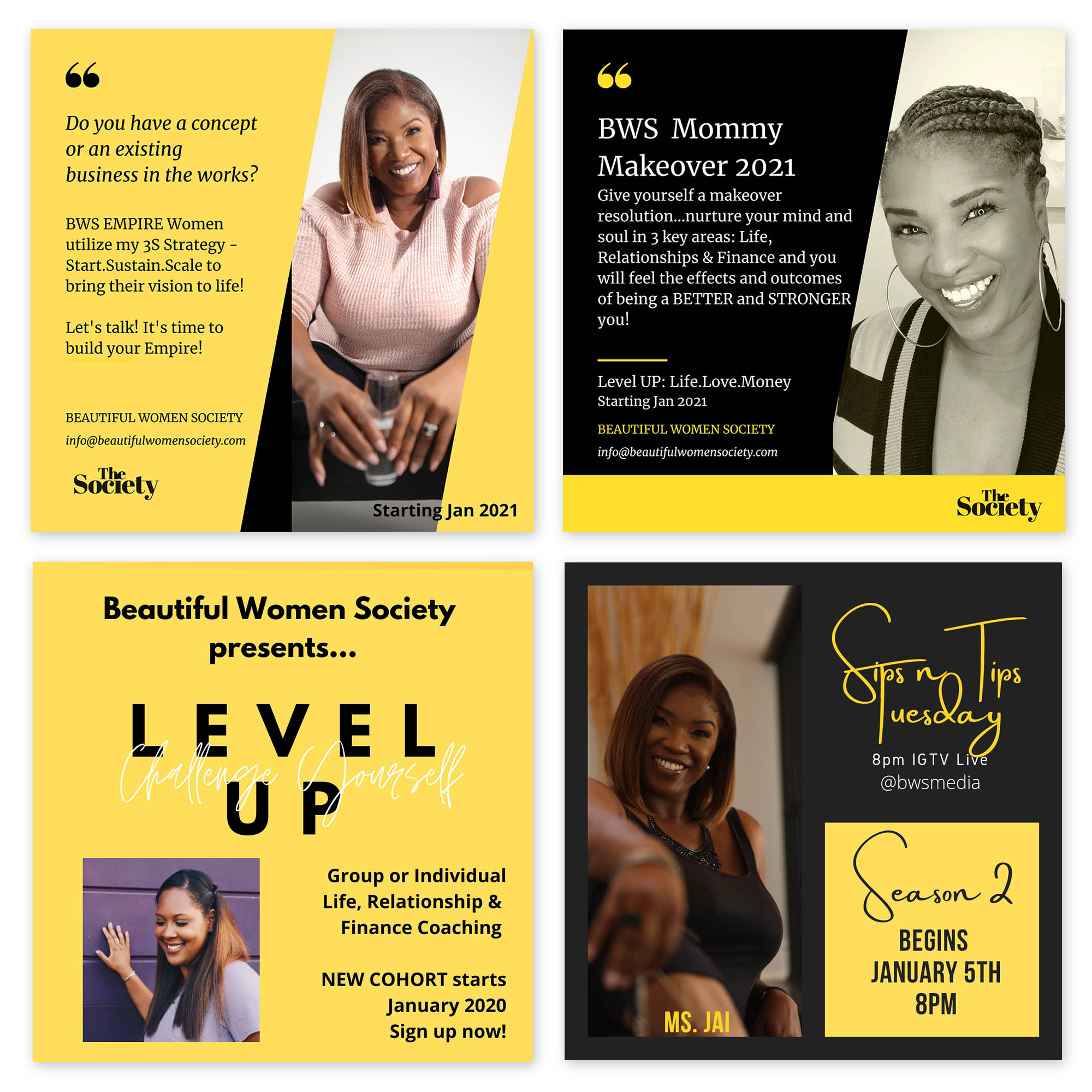 Social media marketing for the Beautiful Women's Society. We utilized our WhatsApp Promotion, to send their marketing message to targeted groups on WhatsApp.