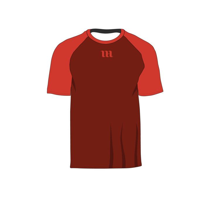Raglan Men's Short Sleeve Shirt - Vector Mockup Template